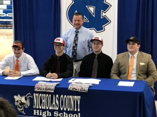 NCHS Football Seniors Signing Day