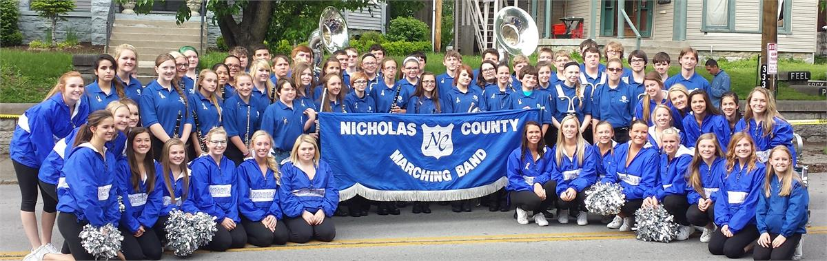 Marching Band and Cheerleaders at the Derby Day Pegasus Parade